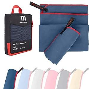 MAVE ATHLETIC® Mikrofaser Handtücher Einzeln oder 2er-Set – Schnelltrocknende Microfaser Handtücher für Fitness & Sport…