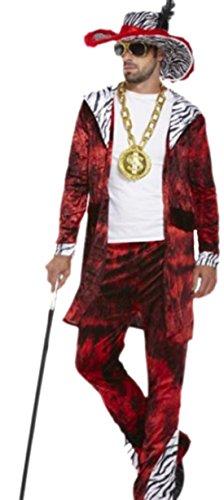 erdbeerloft - Herren Kostüm Big Daddy mit Federhut, onesize, (Pimp Kostüme Daddy Big)
