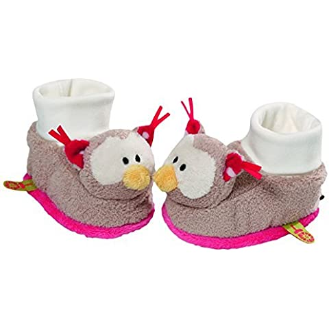 Neat-Oh My First Nici Baby Booties Owl with Rattle Plush by Neat-Oh