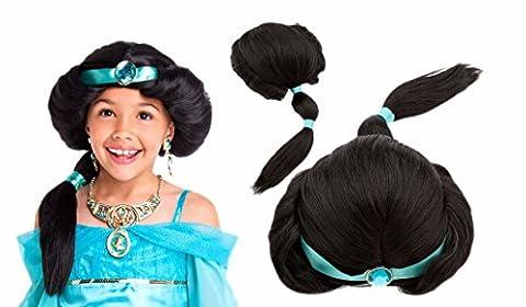 Disney Princess Jasmine Wig For Children One Size Aladdin Jasmine Wig For Kids