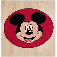 Character World - Alfombra redonda, diseño cabeza de Mickey Mouse de Disney