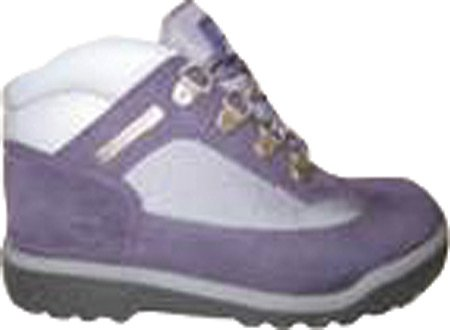 Timberland Field Boot (Toddler/Little Kid/Big Kid) Purple/Grey Leather/Fabric