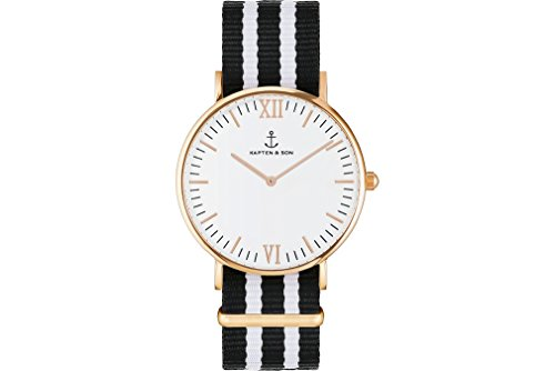 Kapten & Son Herrenuhr Campus RG Nightrider - Campus White RG Nightrider