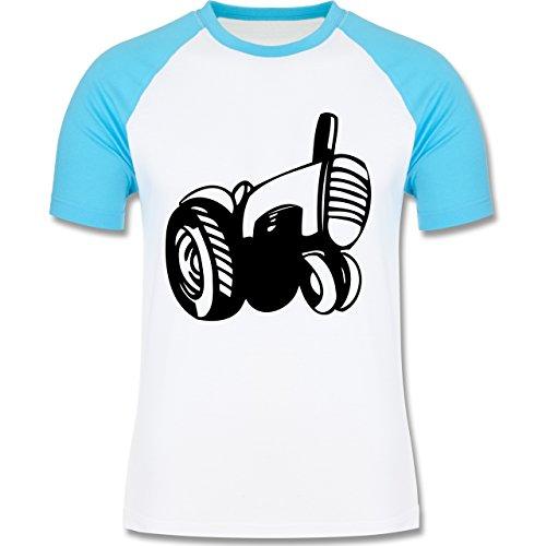 Andere Fahrzeuge - Traktor - zweifarbiges Baseballshirt für Männer Weiß/Türkis