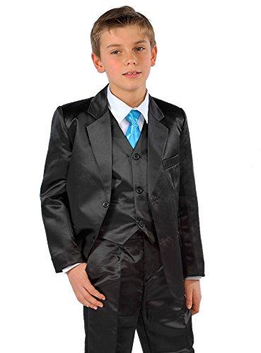 Für Kostüm Jungen Frankreich - Kostüm Jungen Hochzeit Satin grau oder schwarz 3teilig-Produkt Gespeichert und verschickt Schnell seit Frankreich, Schwarz