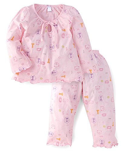 NammaBaby Girls Night Suit (9-12 months, PINK)