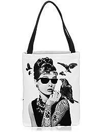0c641c3a0cc66 VOID Audrey Tattoo Tasche Einkaufs-Beutel Polyester Shopper Einkaufs-Tasche  Bag Hollywood Film Hepburn