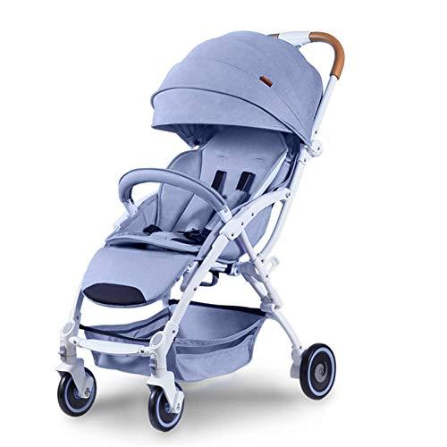 FAFY Kinderwagen Travel System Markise Sommer UV Schutz Baldachin Sun Shield Winddicht Wasserdicht Regenschirm Universal Kinderwagen,Blue -