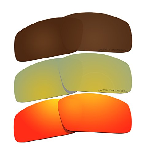 BVANQ Sonnenbrille, polarisiert, Ersatz für Oakley Canteen (2006) Sonnenbrillen, 3 Paar