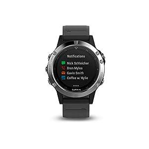 Garmin Fenix 5 Silver - Reloj Multisport GPS con Navegación y frecuencia Cardíaca, Color Plata