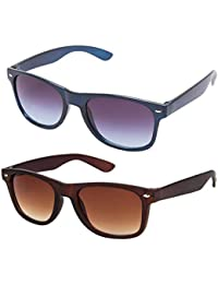3f7f84c7cfb Gansta UV Protected Combo of Brown   Blue Wayfarer sunglasses for Men    Women (GN3006