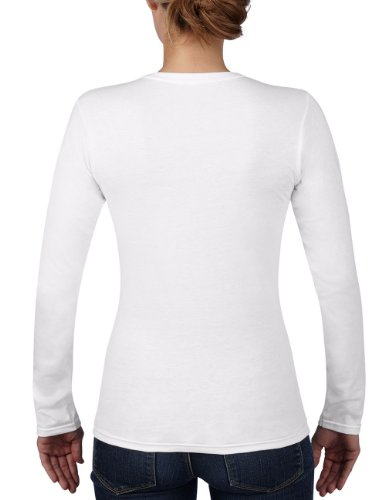 Anvil - Maglietta, Manica lunga, Donna bianco (Weiß (WHT-White 030))