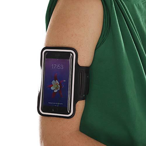 smartphone Brassard, CEKA TECH bracciale di sport compatibile con NGM Dynamic Star - con cinghia regolabile - con portachiavi, cravatta per cavo, titolare della carta