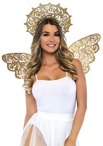 Leg Avenue A282322026 Goldenes Angel Kit, Damen, Einheitsgröße: EUR - Golden Angel Kostüm