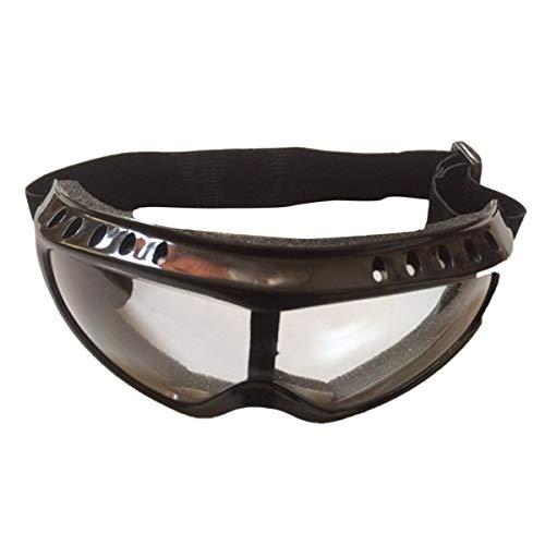 Gugutogo Klassische Schutzbrille Airsoft Tactical Paintball Clear Brille Wind-Staub-Mode Sonnenbrillen Zubehör (schwarz)