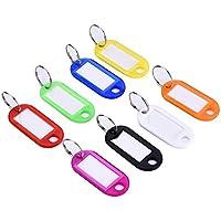 Homiki Lote de 30 llaveros con etiquetas identificativas de plástico multifunción con anilla para llaves, varios colores