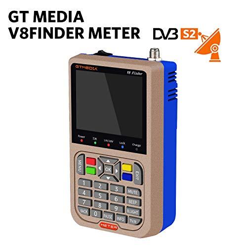 GT Media V8 Satellite Finder Mètre TV DVB-S/S2/S2X...