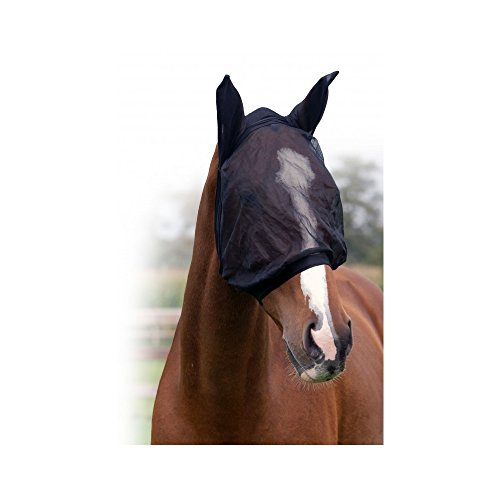 Weiche Fliegenmaske mit Ohren Komfort mit Lycra Größe Shetty/COB/Full, Groesse:Shetty