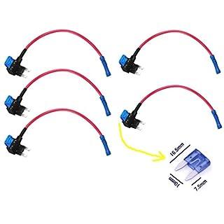 Qiorange ATM APM Add A Circuit Fuse Tap Piggy Back Fuse Style Blade Holder 12V 24V (5pcs)