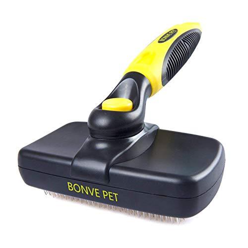Spazzola autopulente per cani gatti, rimuovere i peli superflui con denti flessibili in acciaio inossidabile