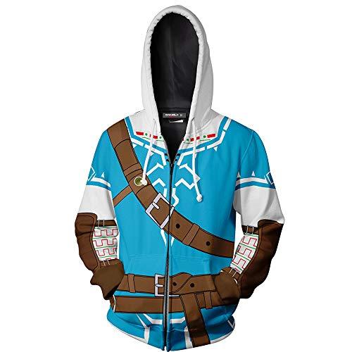 Vokaer The Legend of Zelda Cosplay Coat Jacket Sudadera