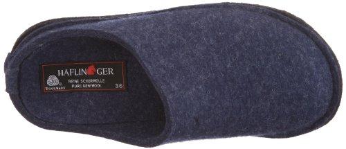 Haflinger Soft 311010, Chaussons mixte adulte bleu / jeans