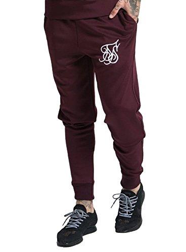 sik-silk-poli-punto-equipado-jog-pantalon-fondo-burdeos-l