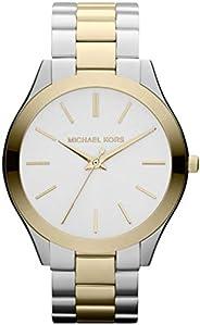 Michael Kors Slim Runway Women's Silver Dial Stainless Steel Band Watch - MK