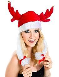 Weihnachtsmütze Hut Wikinger Fun Hut Nikolausmütze Mütze Plüsch Nikolaus Santa