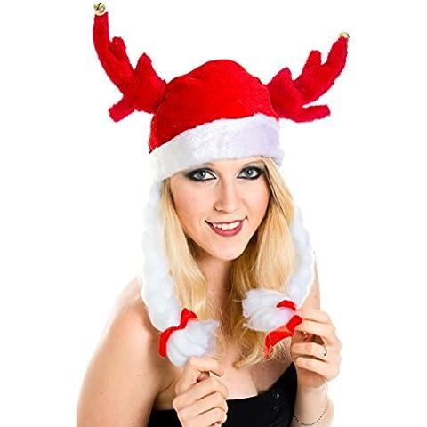 Natale futurepast vichinghi divertimentop futurepast Babbo Natale cappello berretto cappello peluche Babbo Natale Santa WM0101011_FBA