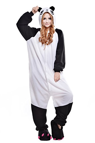 Tier Kostüm Teen - Canasour Pyjamas Kostüm Jumpsuit Tier Schlafanzug Erwachsene Unisex Fasching Cosplay Karneval (XL, Chinese Panda)