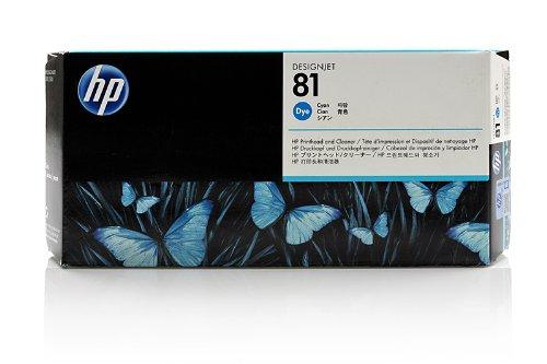HP DesignJet 5500 - Original HP / C4951A / Nr. 81 / Druckkopf Cyan & Druckkopfreiniger - -