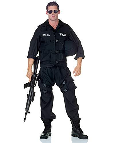 Mann Kostüm Police - Horror-Shop S.W.A.T. Police Männer Kostüm als Berufsuniform