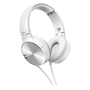 Pioneer SE-MJ722T-W, Cuffie on-ear per Smartphone Android, Windows, Apple, Bianco