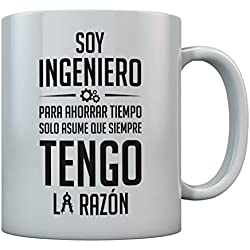 Taza Regalo para Ingeniero 350ml Blanco350ml Blanco