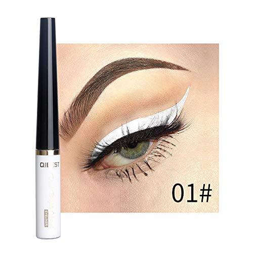 Cooljun Eyeliner Liquide Pigments métalliques yeux Smoky Waterproof Eyeshadow Glitter Eyeliner liquide & crayon fard à paupières (A)