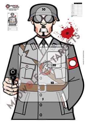 Weiß taktisches Schießen Zielscheibe - Deutscher Soldat WW2