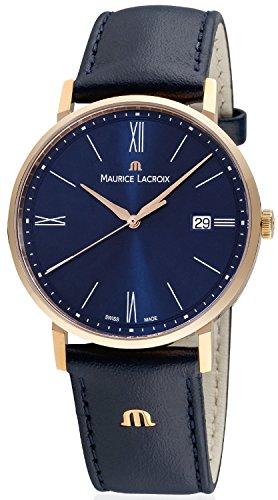 Maurice Lacroix Herren Analog Quarz Uhr mit Leder Armband EL1087-PVP01-410-1