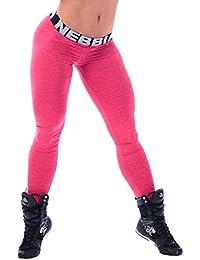 Nebbia Mujer Leggings Deportes Leggings para Mujer Fitness Trousers 222, Mujer, Color Rojo,