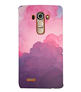 FUSON Cloud Background With Pastel 3D Hard Polycarbonate Designer Back Case Cover for LG G4 :: LG G4 Dual LTE :: LG G4 H818P H818N :: LG G4 H815 H815TR H815T H815P H812 H810 H811 LS991 VS986 US991