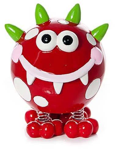Huchas originales infantiles decorativa con forma de monstruo rojo