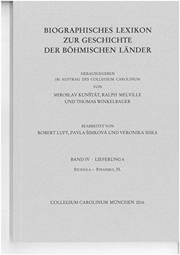 Biographisches Lexikon zur Geschichte der böhmischen Länder. Band IV, Lieferung 7.: Stránský, J. - Stro/Stru