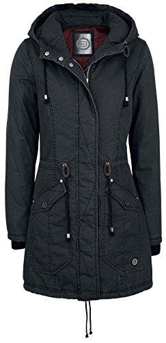 R.E.D. by EMP Long Zip Jacket Cappotto donna nero L