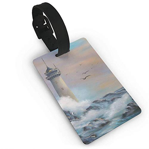 2 Pack Gepäckanhänger Lighthouse and Hope Travel Luggage ID Tag for Travel Bag Suitcase Accessories
