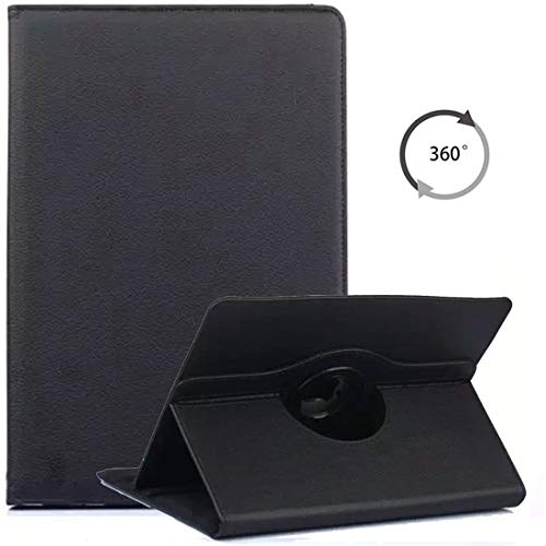 MYTHOLLOGY Etui Universelle pour Tablette 8 Pouces, 360° Rotation Rotatif Housse avec Support Coque Samsung Galaxy Tab S2 8.0 T710 /Galaxy Tab Active 2 /Huawei MediaPad M5 8.4 - Noir