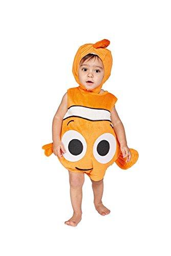 Dory Und Nemo Kostüme (Amscan DCNE-TA18 - Kinderkostüm Nemo Plüschüberwurf mit Mütze, 86 - 92)