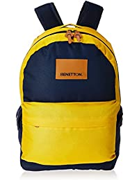 United Colors of Benetton 15 Ltrs Yellow Casual Backpack (17A6BKPK0L11I)