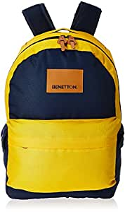 United Colors of Benetton 15 Ltrs Yellow Casual Backpack(17A6BKPK0L11I)