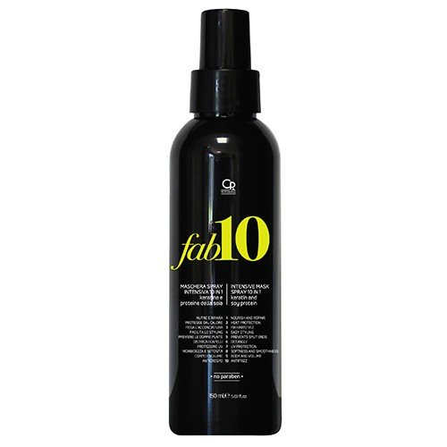 Fab10 - Maschera Spray Senza Risciacquo 10in1 - Trattamento Professionale 10 Benefici per Capelli con Cheratina e Proteine Della Seta - Senza Risciacquo - 250 ml