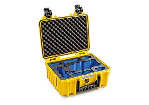 B&W Outdoor Cases Typ 3000 mit DJI Mavic Pro Inlay, gelb - Das Original